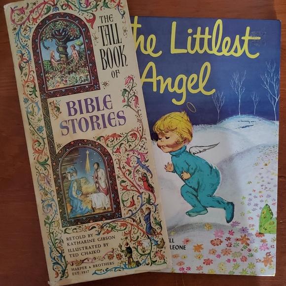 Set of 2 children's vintage illustrated books